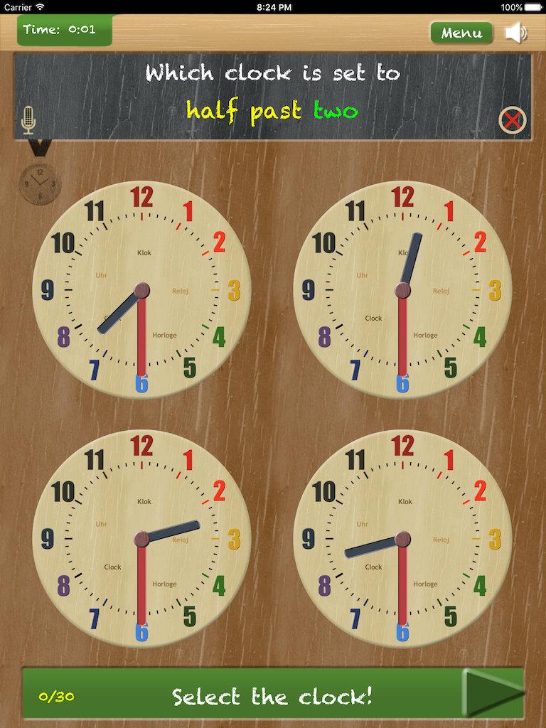 horloge digital touch